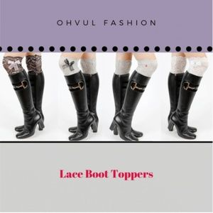 Bundle 4 Sexy Lace Bow Stretchy Boot Toppers